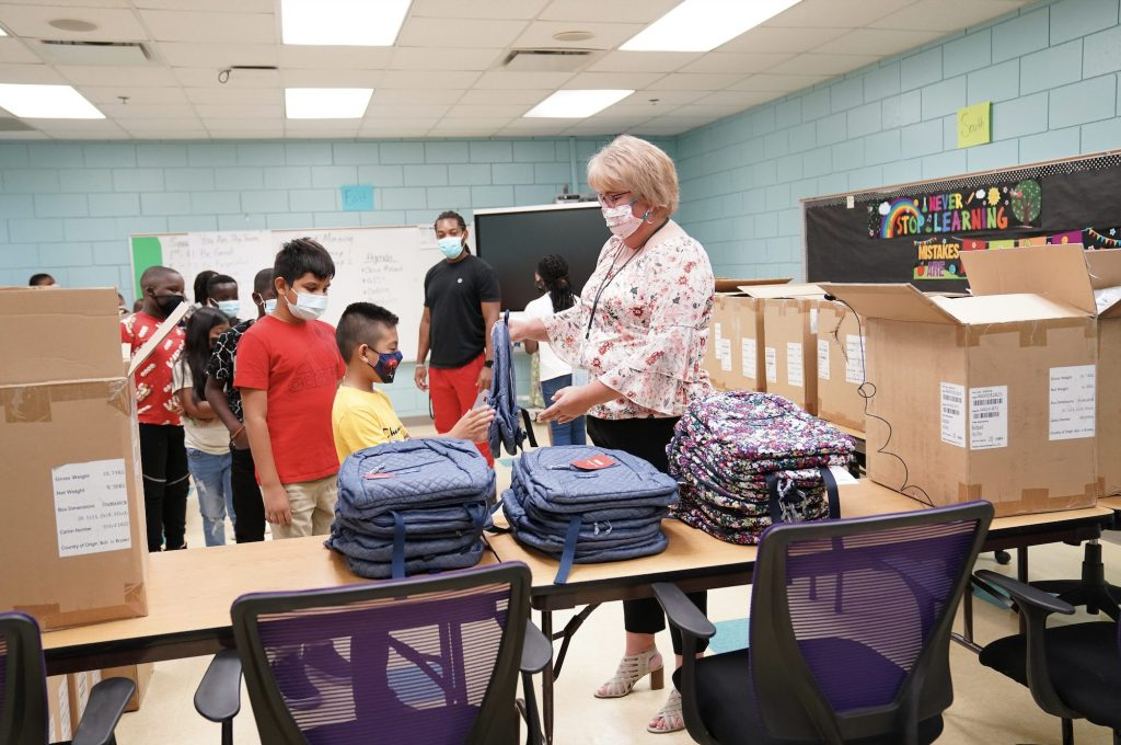 Backpacks, furniture, and more given to Central Florida school